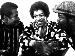 Band Of Gypsys: Billy Cox (Left), Jimi Hendrix (Center), Buddy Miles (Right)